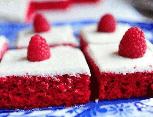 Красный бархатный торт. Фоторецепт