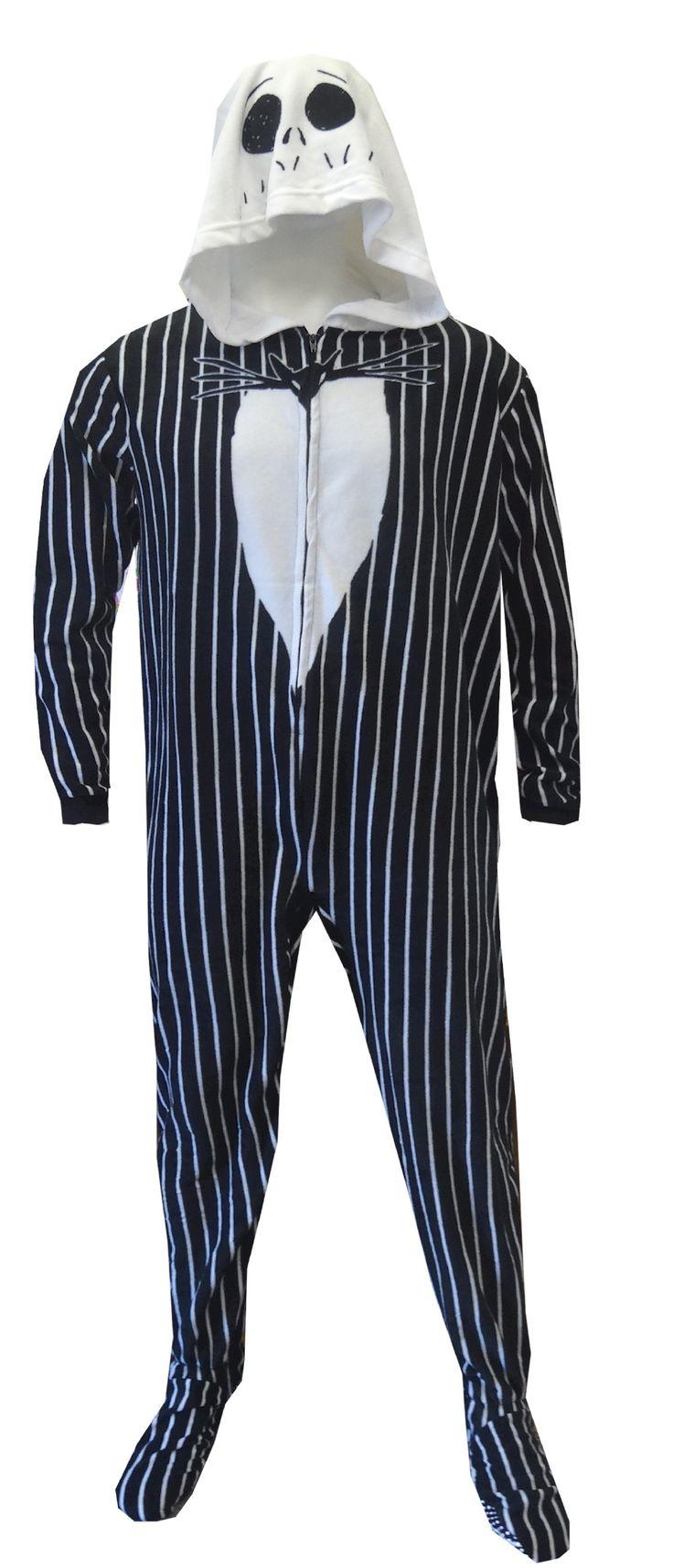 Nightmare Before Christmas Jack Skellington Men Footie Pajama f629c138a