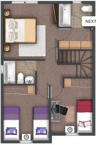 M s de 25 ideas incre bles sobre casas de dos pisos en for Diseno para casa de 90 metros cuadrados
