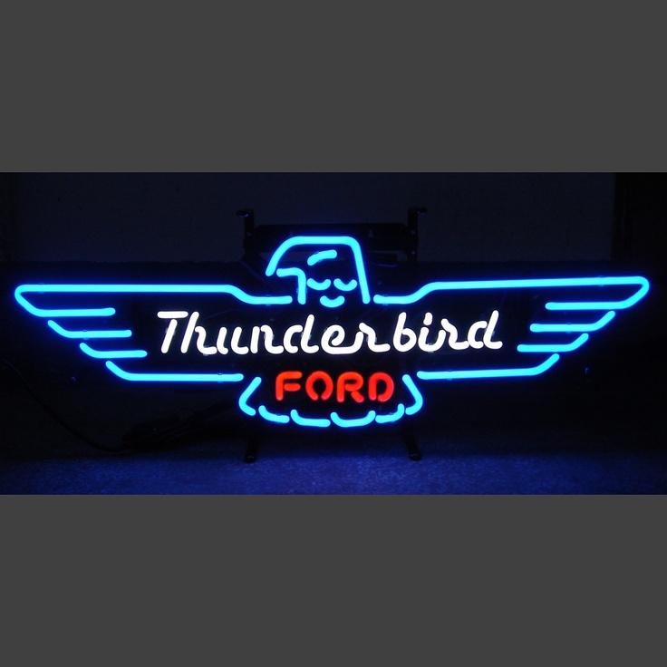 Thunderbird: Gt Thunderbirdmustang, Neon Lights, Ford Thunderbird, 5Thunder Ford, Thunderbird Neon, Ford Tbird, Neon Signslight, Thunderbird Ford, Blue Ford