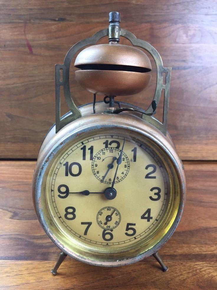 RARE Wonderful Antique Vintage Junghans Double Bell Alarm Clock Working | eBay
