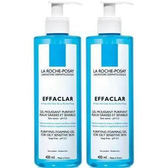 La Roche Posay Effaclar Gel Moussant Purifiant Duo 400ml - Pharmacie Lafayette - Acné & peaux grasses