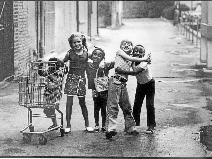 Friends by Joseph Crachiola: This 1973 photo of five children playing in a Detroit suburb has gone viral on the Internet. The children were Rhonda Shelly, 3 (from left), Kathy Macool, 7, Lisa Shelly, 5, Chris Macool, 9, and Robert Shelly, 6. #Photography #Friends