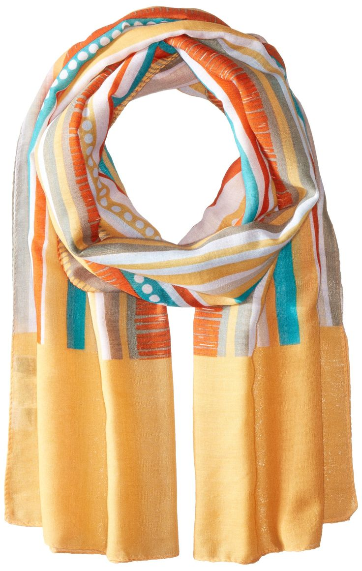 White Sierra Women s Bug Free Printed Gauze Scarf Tiger Lily e Size Insect shield fabric repels insects including those that can carry lyme disease