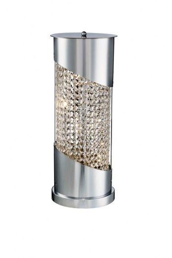 4 light clear crystal table lamp
