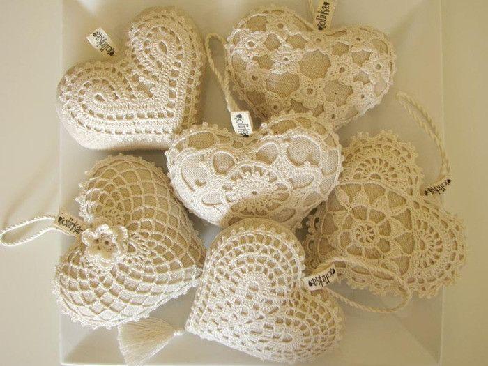 Crochet Heart -? (Bird's nest woven) - nest - nest weave