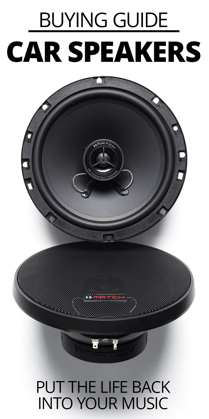 New speakers can put the life back into your music. Crutchfield carries car speakers of nearly every size, shape, and type, but with so many choices available, it can be hard to know what to look for. But if you keep a few important points in mind, you'll be able to pick out the perfect speakers for your vehicle.