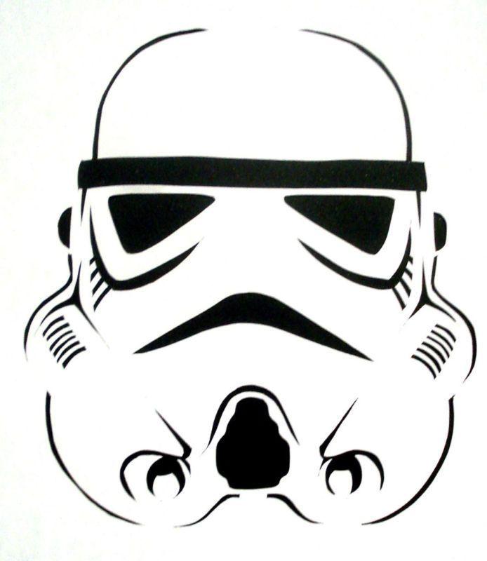 Black Eyes Outline Stormtrooper Tattoo Design                                                                                                                                                                                 Mehr