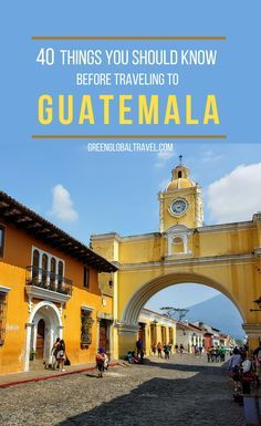 Check out our guide with 40 Things You Should Know Before Traveling to Guatemala including: Places to see in Guatemala, Things to do in Guatemala, Safety and Transport in Guatemala, Things to Eat (and Drink) in Guatemala, Culture and History in Guatemala & more!-- Tanks that Get Around is an online store offering a selection of funny travel clothes for world explorers. Check out www.tanksthatgetaround.com for funny travel tank tops and more travel destination guides.