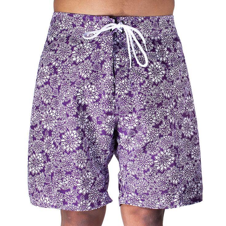 Trunks Men's Salty Board Shorts – Lotus Blossom