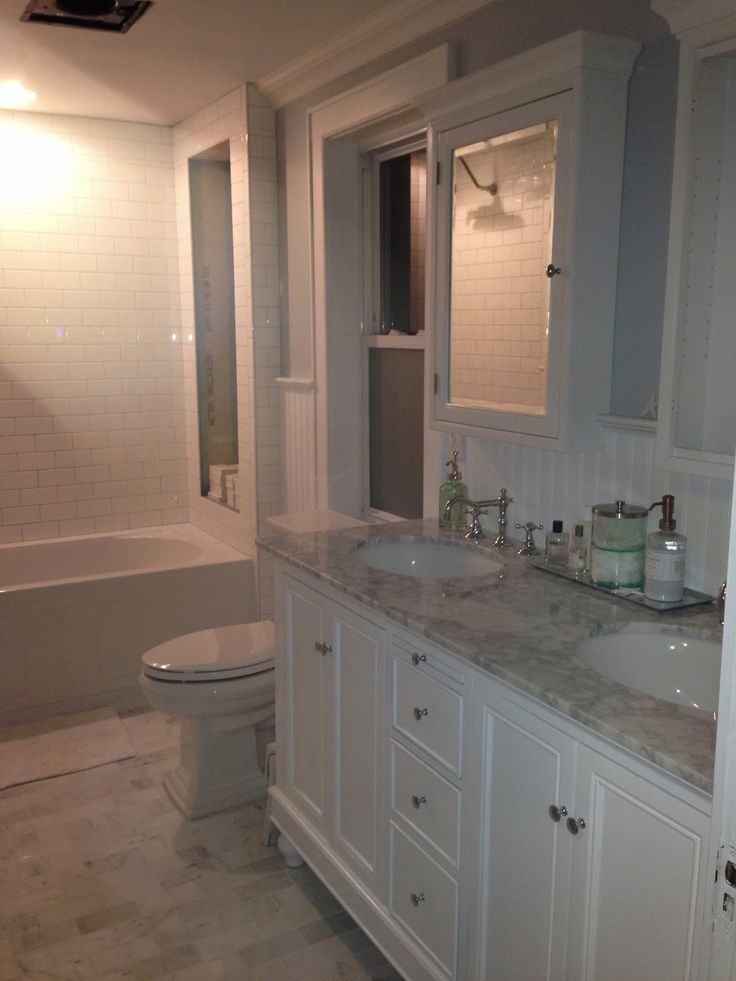 Marcie reid designs coastal bathroom renovation for Carrera bathroom ideas