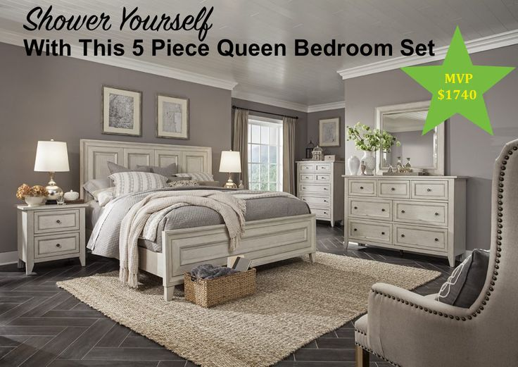 April Showers Bring May Flowers.  Why Not Shower Yourself With This Bedroom Set From Mooradians Furniture!
