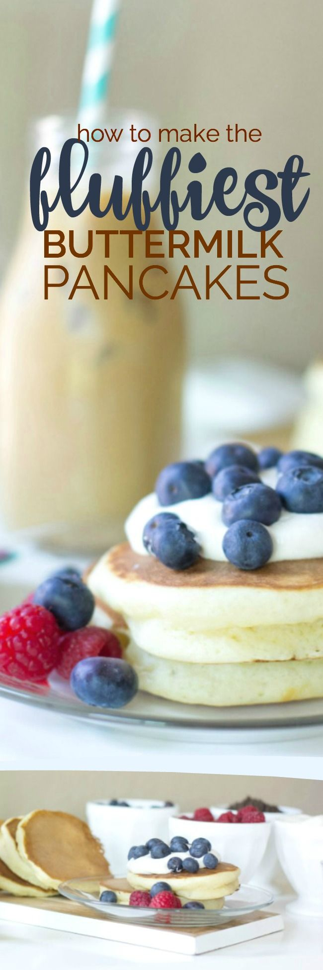 How to make the Fluffiest Buttermilk Pancakes that are perfect for your friends, family and summer parties!