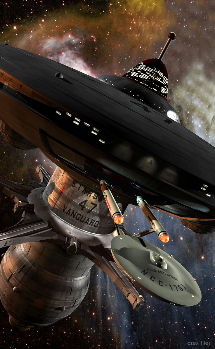 The Vanguard space station designed by Doug Drexler.  Star Trek Vanguard is the best Star Trek series ever!!!