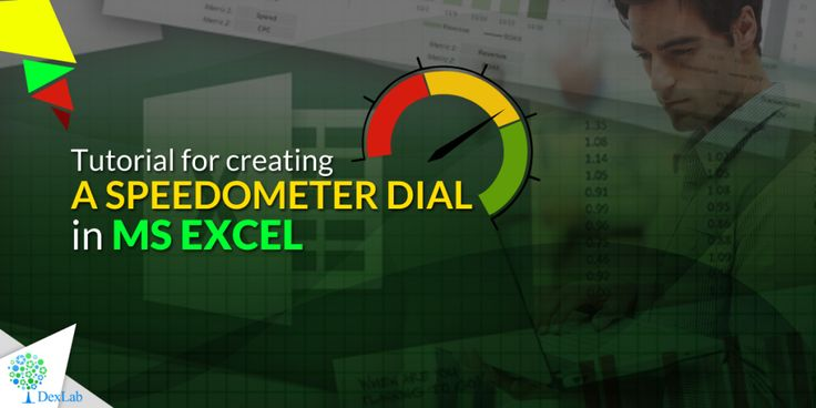 Tutorial for creating a Speedometer dial in #MSExcel