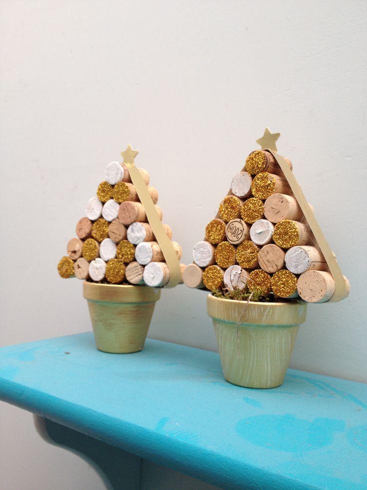 Kerstboompjes kurk