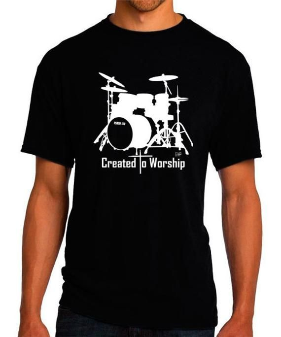 dfac3831a2dce Created to Worship Drums - Christian T-Shirt - Christian Apparel ...