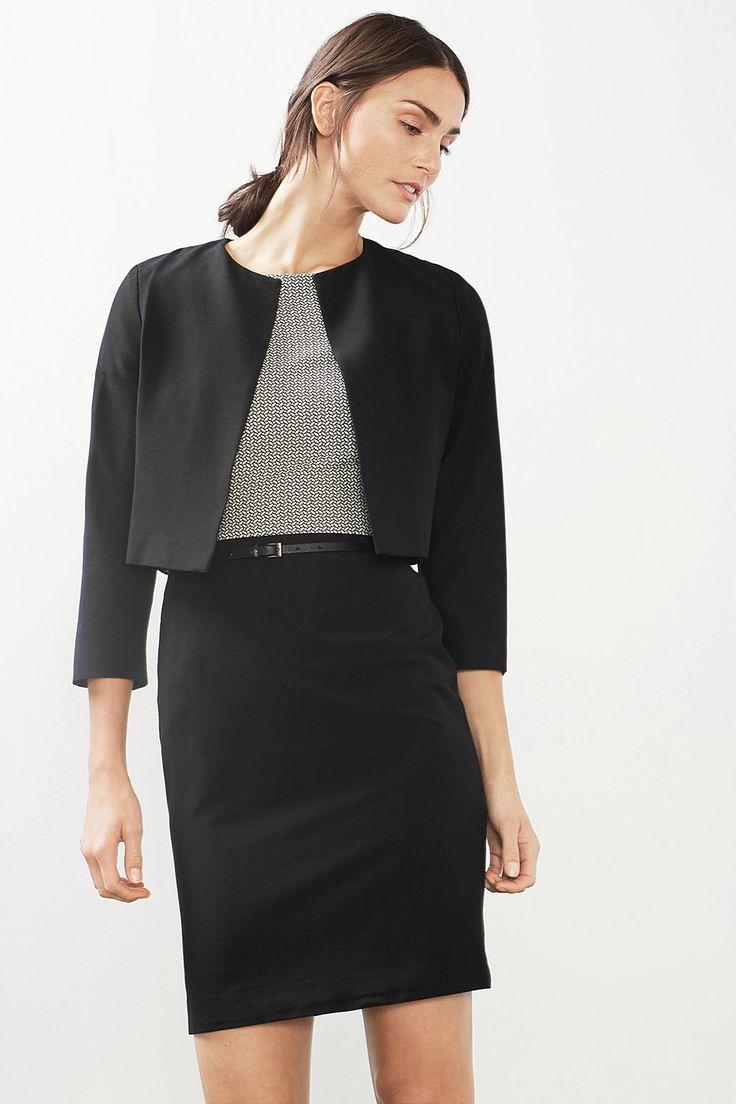 Esprit - Korte blazer met veel stretch kopen in de online shop