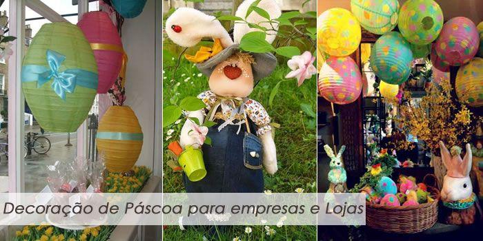 Aprenda como fazer uma decoração de Páscoa para empresas e vitrines de lojas com dicas e lindas fotos!