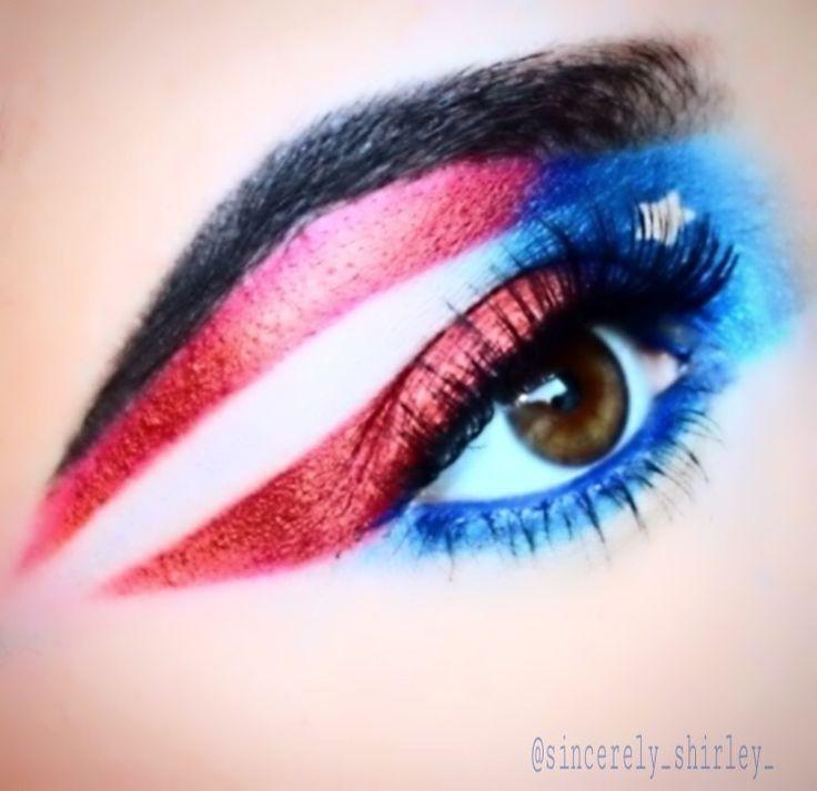 Puerto Rican Inspired Makeup    #PuertoRico #makeup #makeupideas #eyeshadow #eyeshadowideas #flag | Puerto Rican Flag
