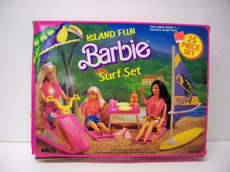 NIB BARBIE DOLL 1987 ISLAND FUN SURF SET PLAYSET OVER 1,000 BARBIES FOR SALE in Other | eBay
