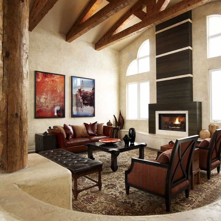134 best images about rustic great rooms on pinterest - Rustic contemporary living room designs ...