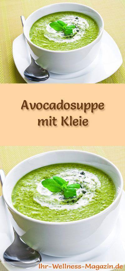 Rezept für Avocadosuppe mit Kleie - Abnehmen ohne zu hungern durch sättigende Rezepte mit Haferkleie und Weizenkleie ...