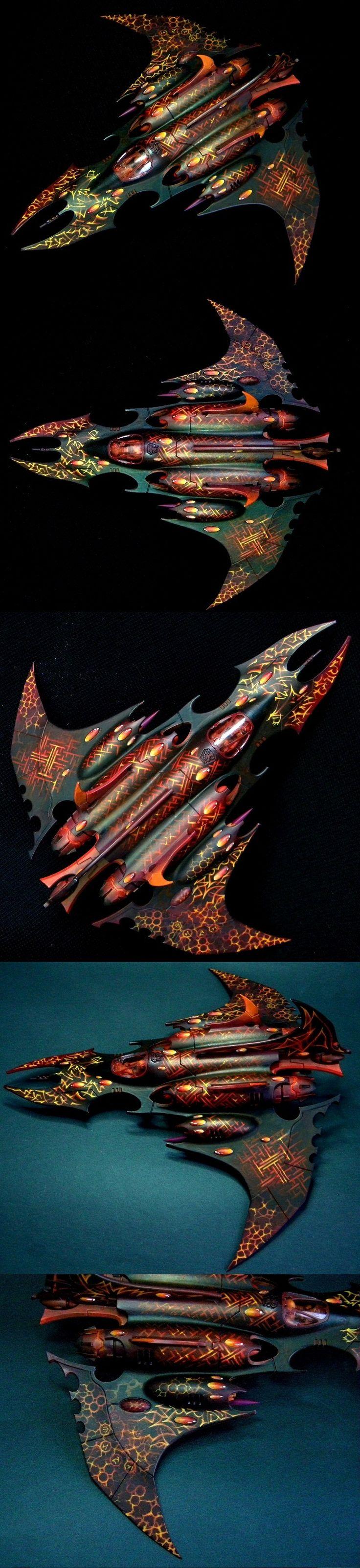40k - The Reflection of Darkness, Dark Eldar Razorwing by Hors