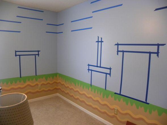 DIY Mario Bros wall painting