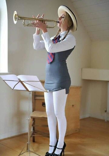 teen in tights