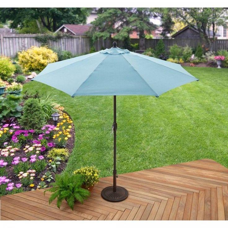 Garden Parasol Umbrella Sun Shade Structures Outdoor Patio Canopy Furniture Blue #GardenParasolUmbrella #GardenUmbrella