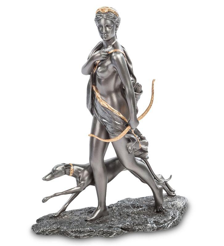 """Статуэтка """"Артемида - Богиня охоты"""" WS-11   Бренд: Veronese (Китай, о. Тайвань);      Страна производства: Китай;   Материал: полистоун;   Длина: 21,5 см;   Ширина: 9 см;   Высота: 28 см;   Вес: 0,9 кг;"""