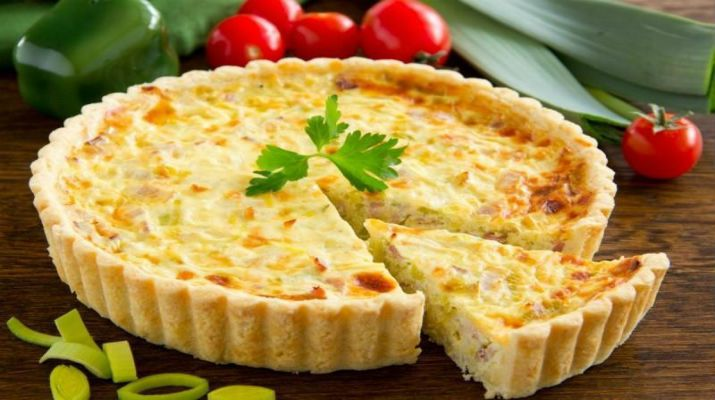 Киш-лорен с курицей и грибами – французский открытый пирог