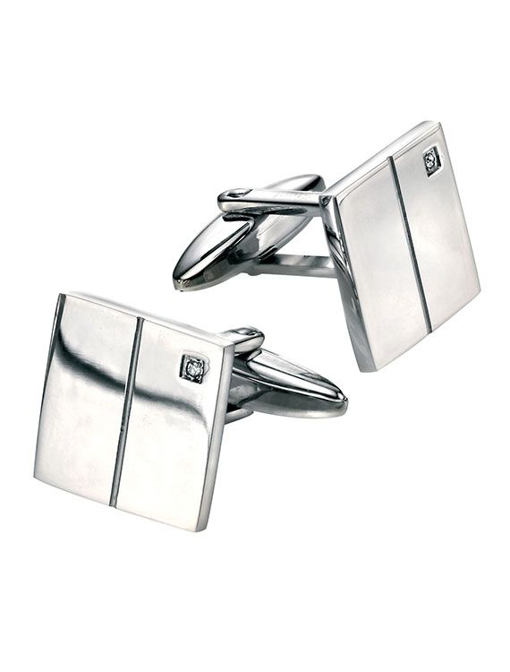 Fred Bennett Men's Cubic Zirconia Cufflinks - a perfect Father's Day gift. £35 - onyxgoldsmiths.co.uk
