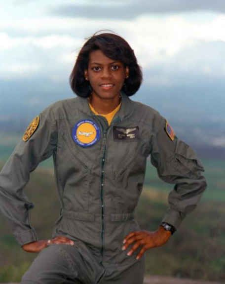 Matice Wright, the Navy's first African American female naval flight officer.: