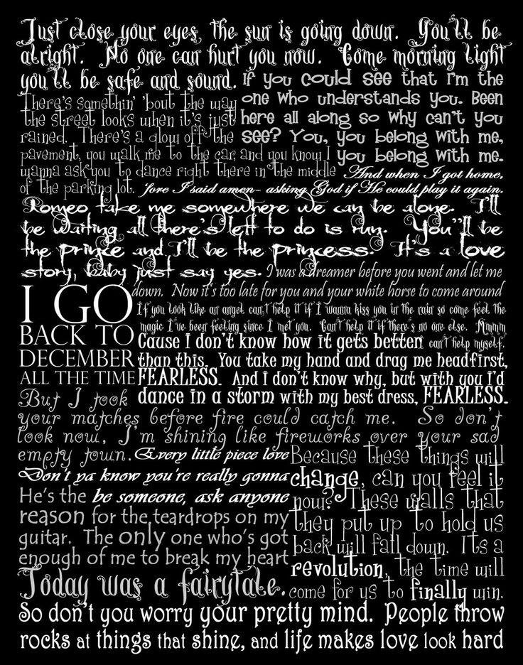 taylor swift lyrics poster | Quotes | Pinterest | Taylor ...