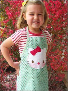 Kids Apron Patterns Hello Kitty Modele De Tablier Gratuit