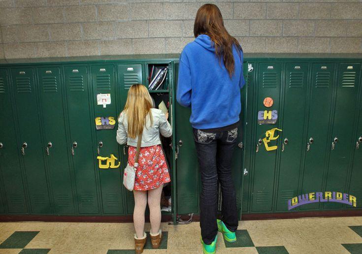 Super Tall Girl At Locker By Lowerrider Deviantart Com On
