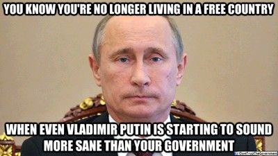 Yeah. Putin is more logical than us on several things, but he does have an issue on Freedom of the Press/Media
