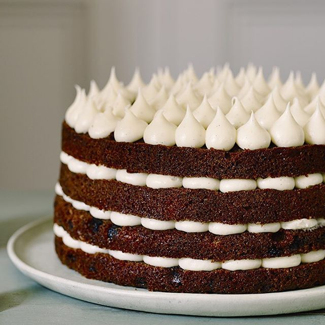 Edd Kimber's showstopping layered carrot cake with mascarpone frosting – a beautiful centrepiece cake for special occasions.  Find the recipe in the link in our bio.  #CarrotCake #baking #Waitrose
