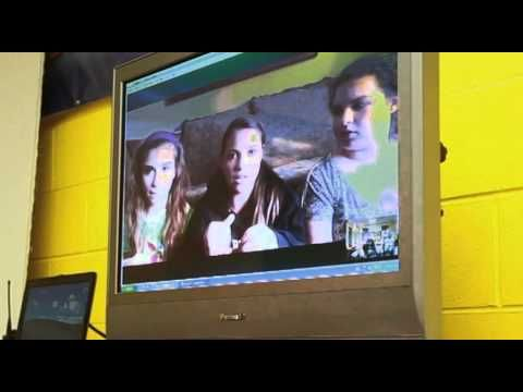 On Cyber Safety Awareness Day, teens at the In Search of Me Cafe in the Miller Boys & Girls Club Skyped teens in New Jersey. During the session, They talked about general cyber safety, cyberbullying, sexting and other related topics.