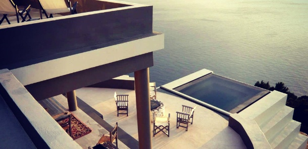 Clifftop villa in Kefalonia with views of Myrtos Beach to the left and Assos to the right with cliff hanging jacuzzi, in-house chef, yacht charter and concierge services - my dream home. #Wild Rose villa