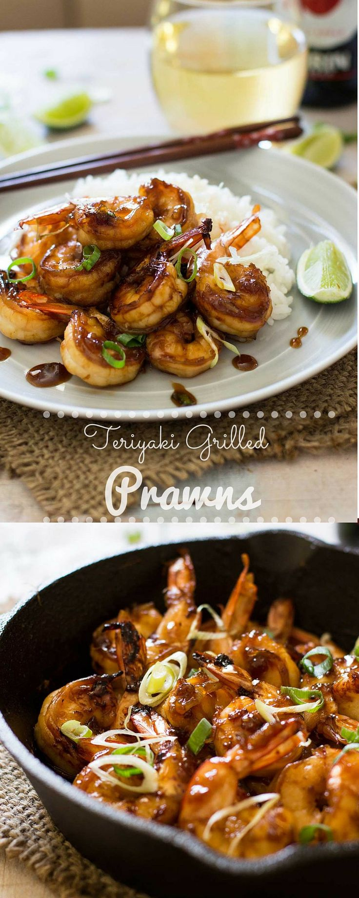 These  delicious Japanese teriyaki grilled prawns are  perfect for any occasion and use a super simple and authentic teriyaki sauce!