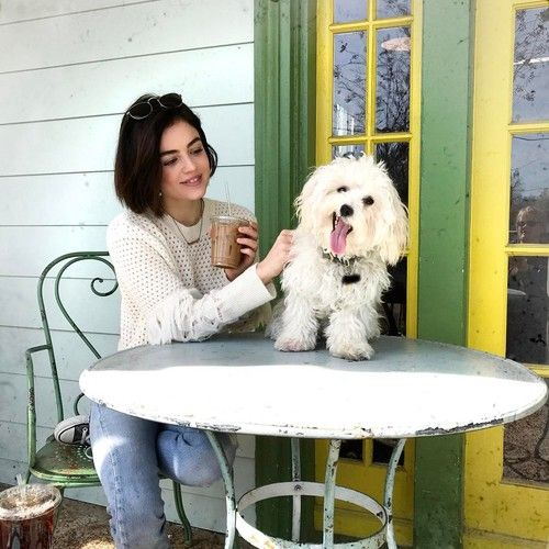 Lucy Hale - lucyhale: Elvis is so expressive
