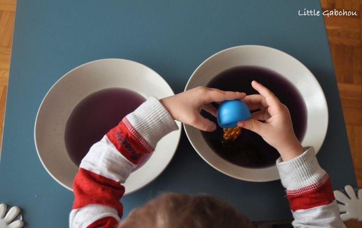 activite #montessori transvasement à la pipette
