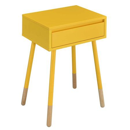 Furniture of America Dacia Contemporary Side Table, Multiple Colors, Yellow