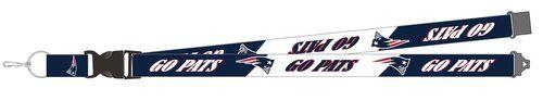 New England Patriots Lanyard Breakaway Style Slogan Design