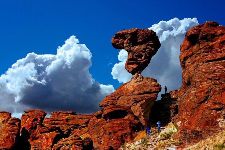 'Balanced Rock' near Castleford Idaho, USA.