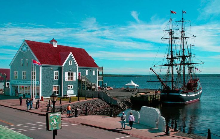 Pictou, Nova Scotia.  The Ship Hector, a replica is seen in this photo, brought one of my ancestors to the New World to found Pictou.