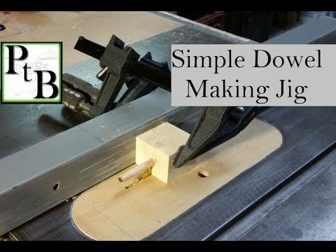 Simple Dowel Making Jig for the Table Saw